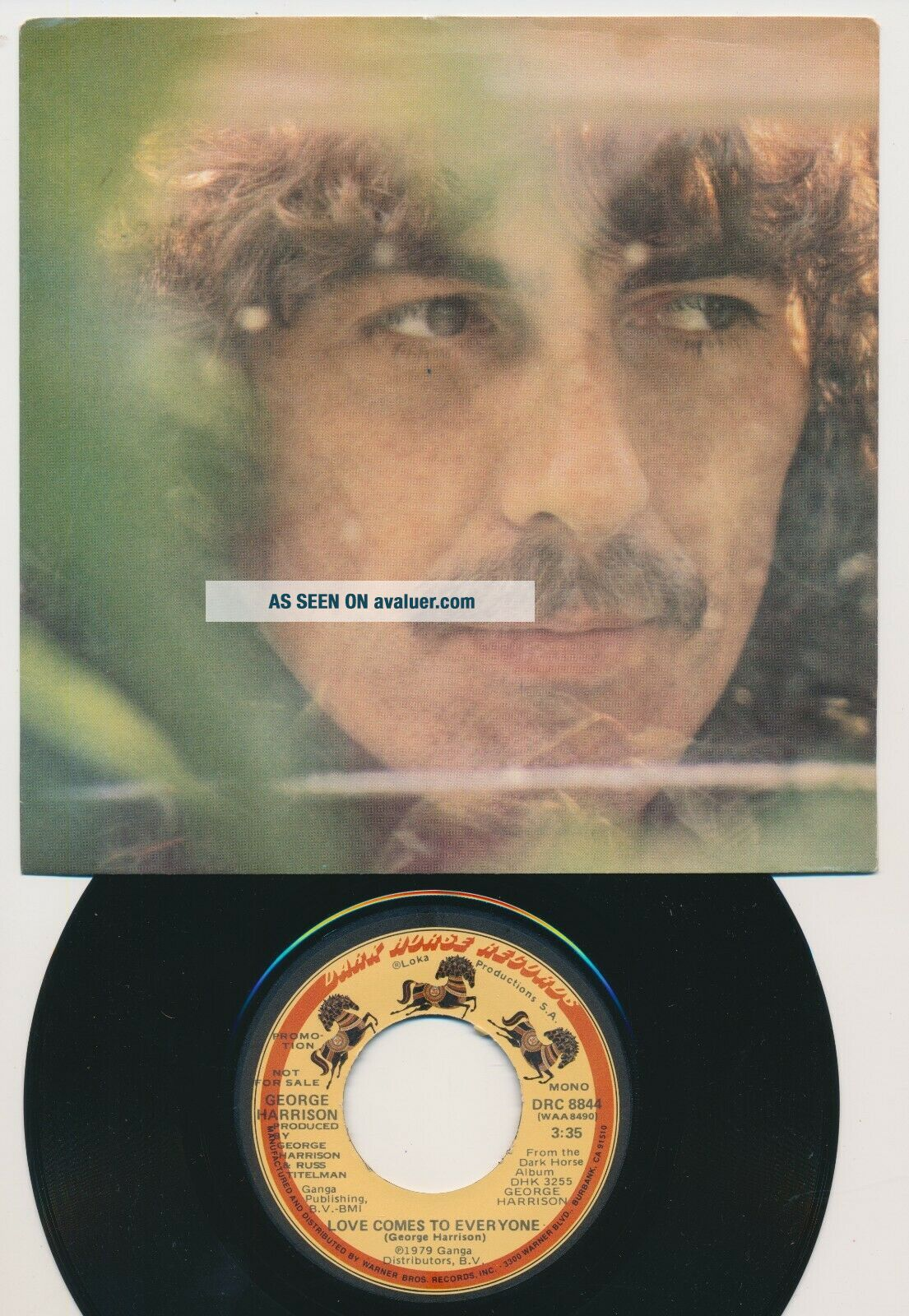Beatles ULTRA RARE GEORGE HARRISON ' LOVE COMES TO EVERYONE ' PICTURE SLEEVE