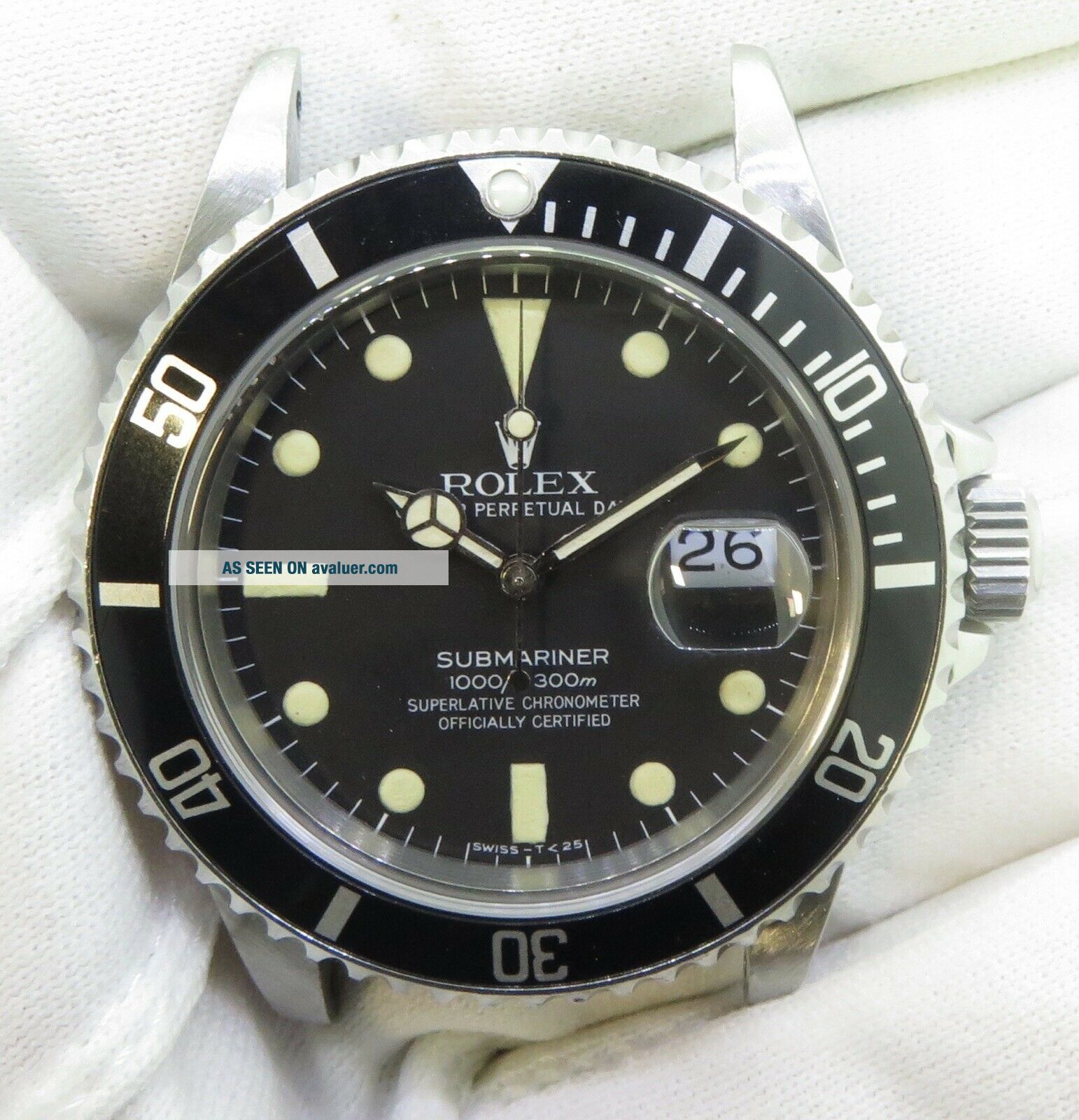 1982 Vintage Rolex Submariner 16800 Steel Wrist Watch With Matt Dial $1 NO RES
