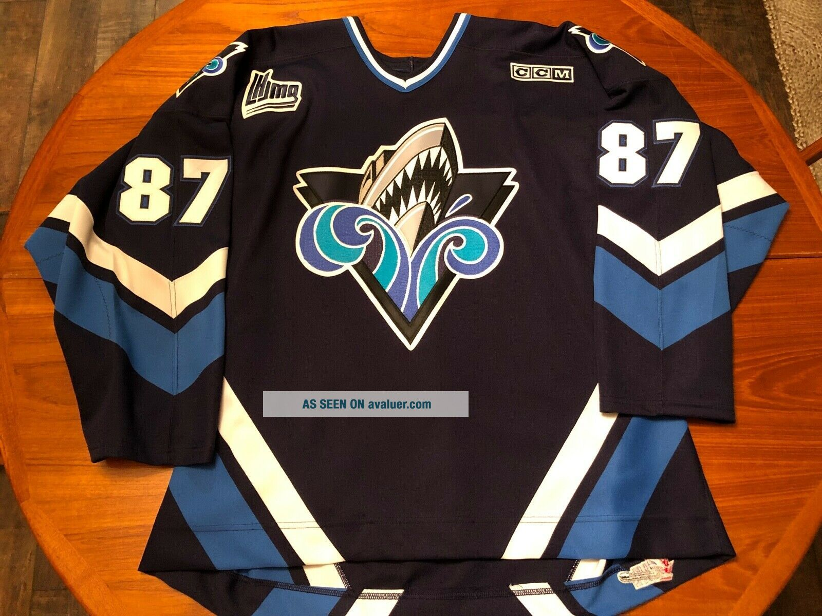 Sidney Crosby Rimouski Oceanic Game Worn/Issued Jersey Signed Penguins Rare