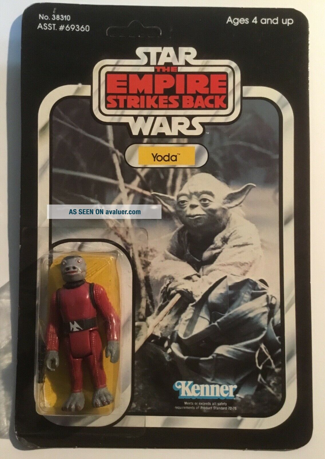 Vintage STAR WARS error Kenner TOLTOYS Snaggletooth on Yoda ESB 41 Bck TEST CARD