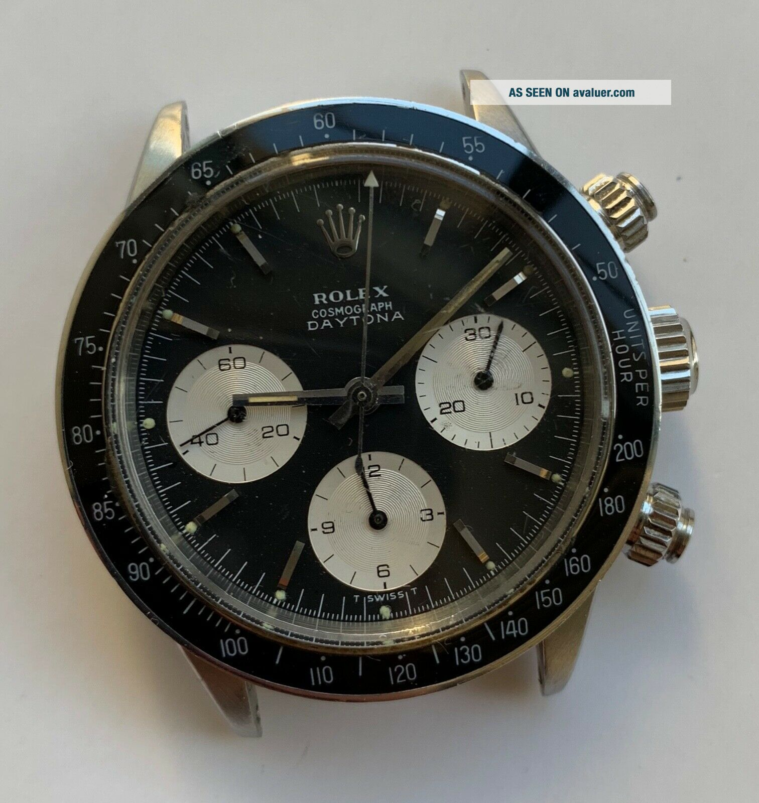 1960 ' s Vintage Rolex Cosmograph Daytona ref.  6240 with Black Dial 6239 6263 6265