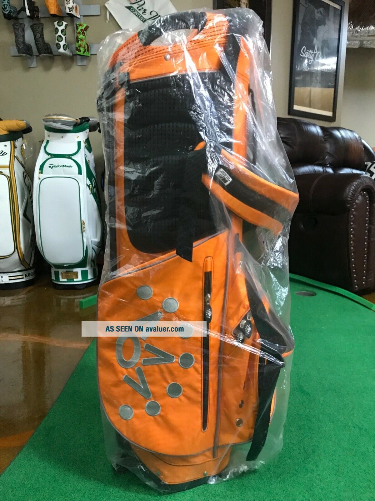Scotty Cameron Rare Pin Flag Stand Bag Orange