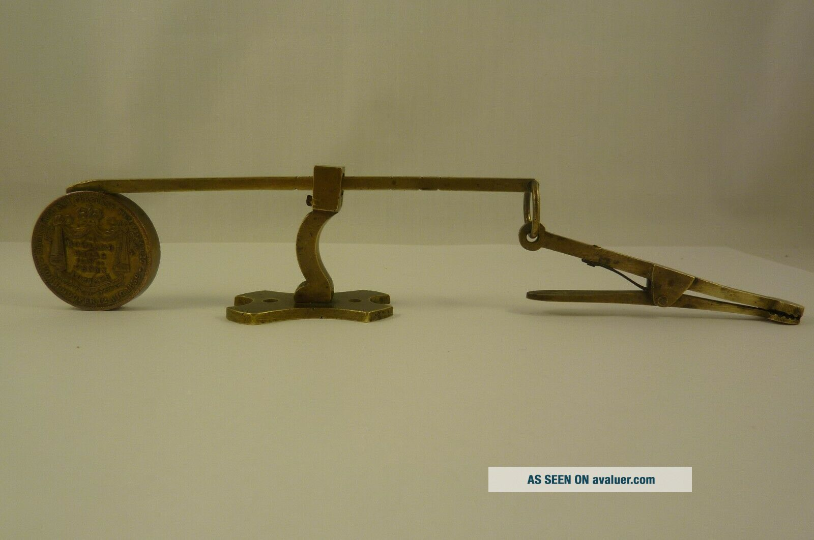 Collectable,  rare Antique Letter Scale for Rowland Hills Penny Postage 1839