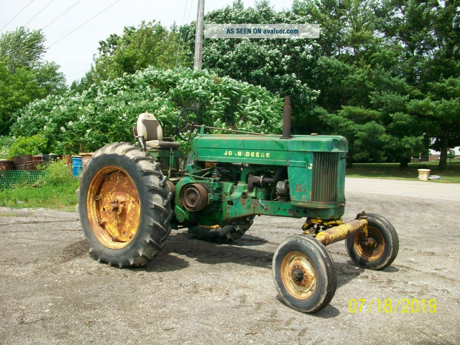 1957 John Deere 720 Gas Antique Tractor Wide Front 3 Point Hitch a b