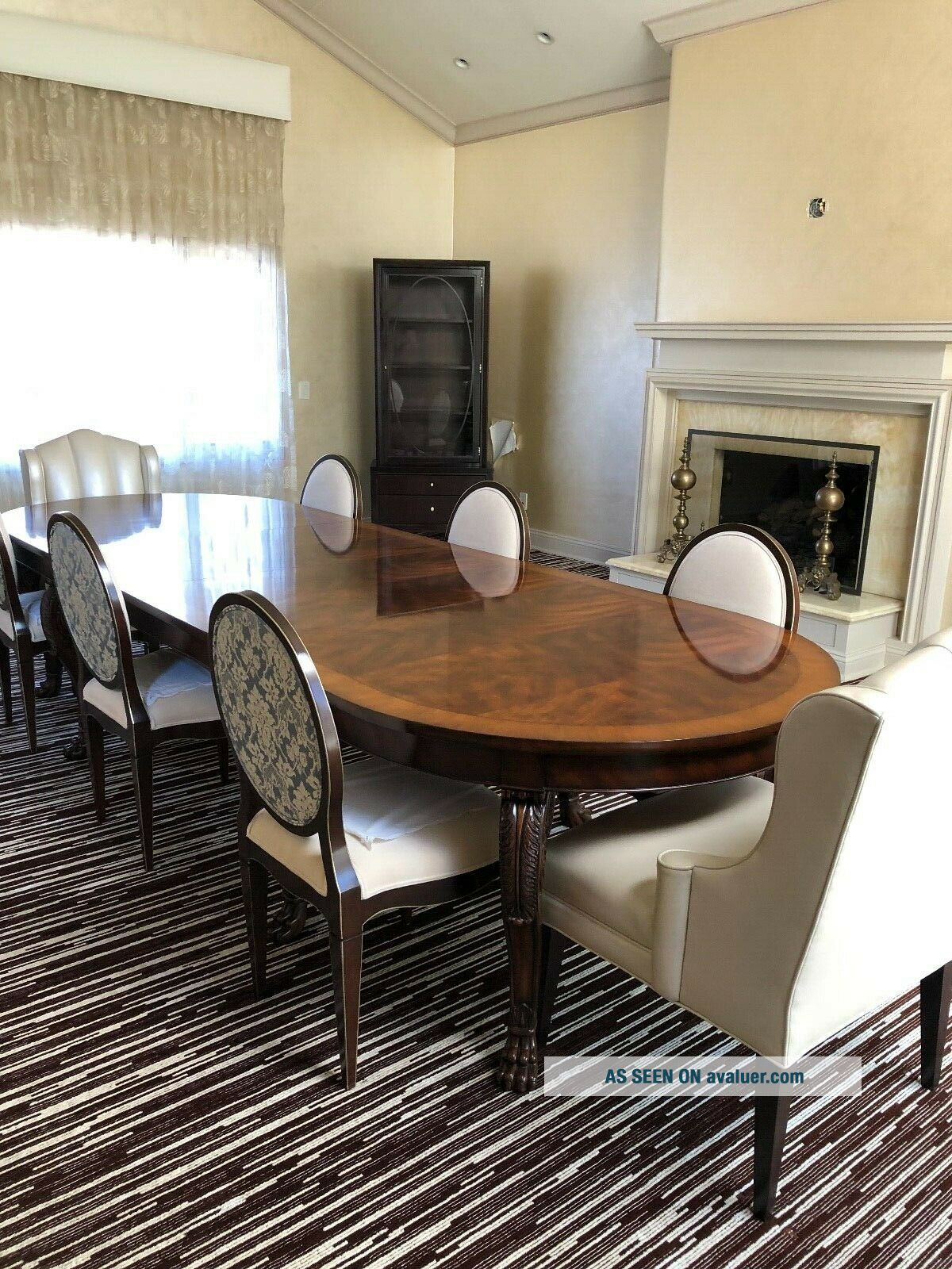 Ralph Lauren Large Dinning room Table Mahogany Wood with 8 chairs