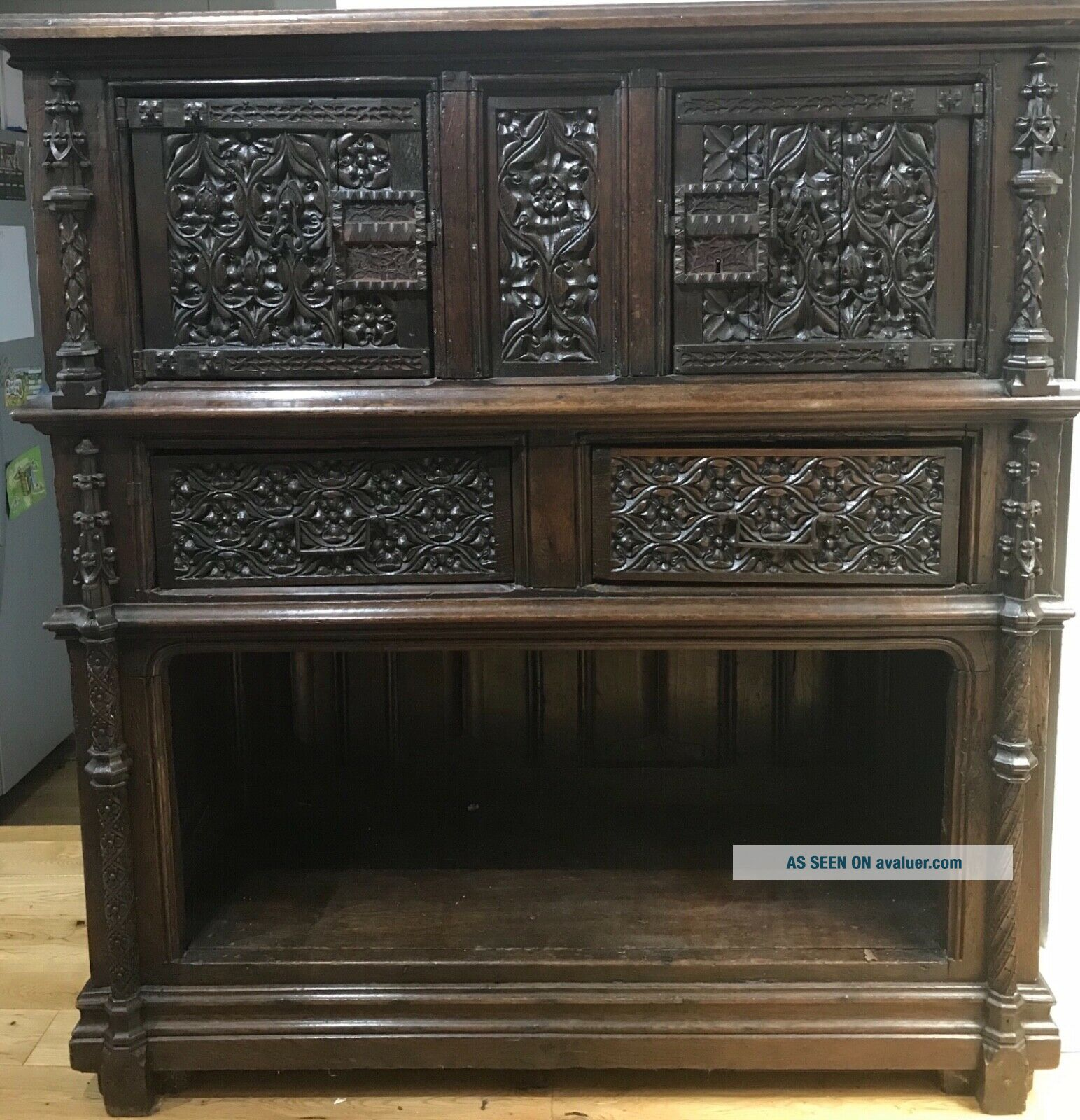 16th century oak cupboard