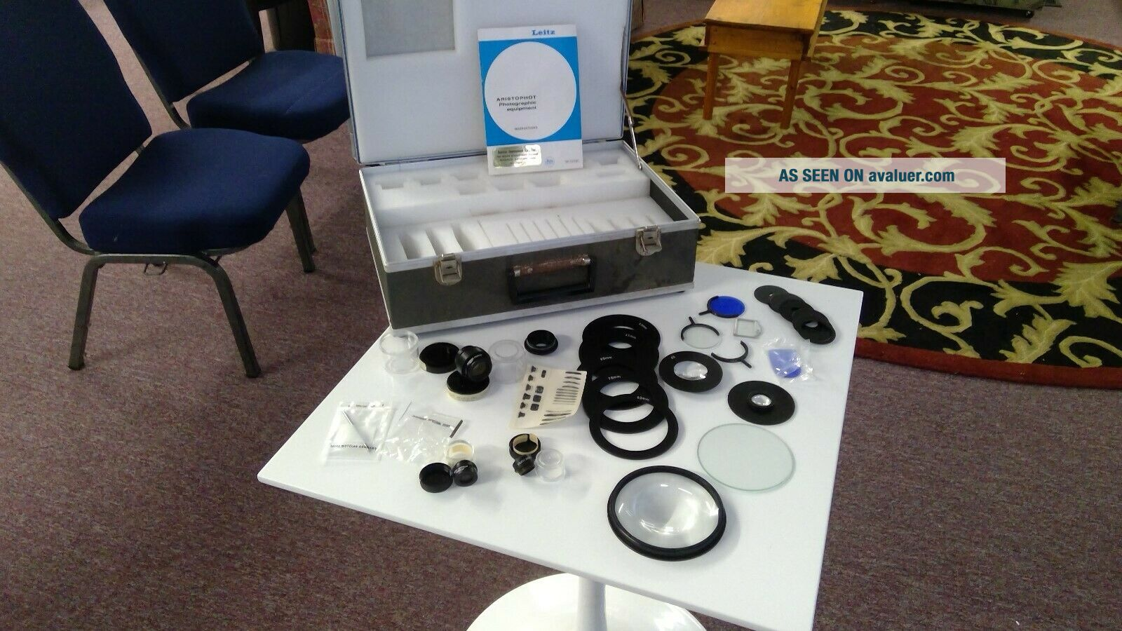 vintage Leitz Wetzlar Germany Microscope accessories kit including lenses