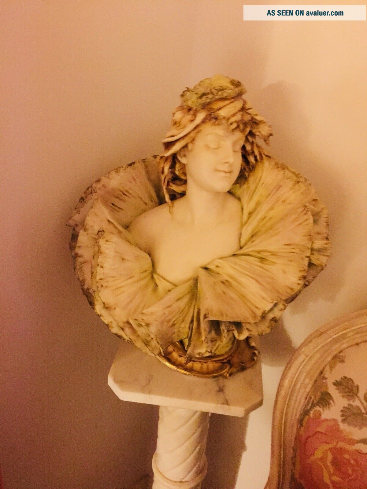 Early 20th Cent.  Porcelaine Teplitz Bust Of Woman By E.  Stellmacker One Of kin