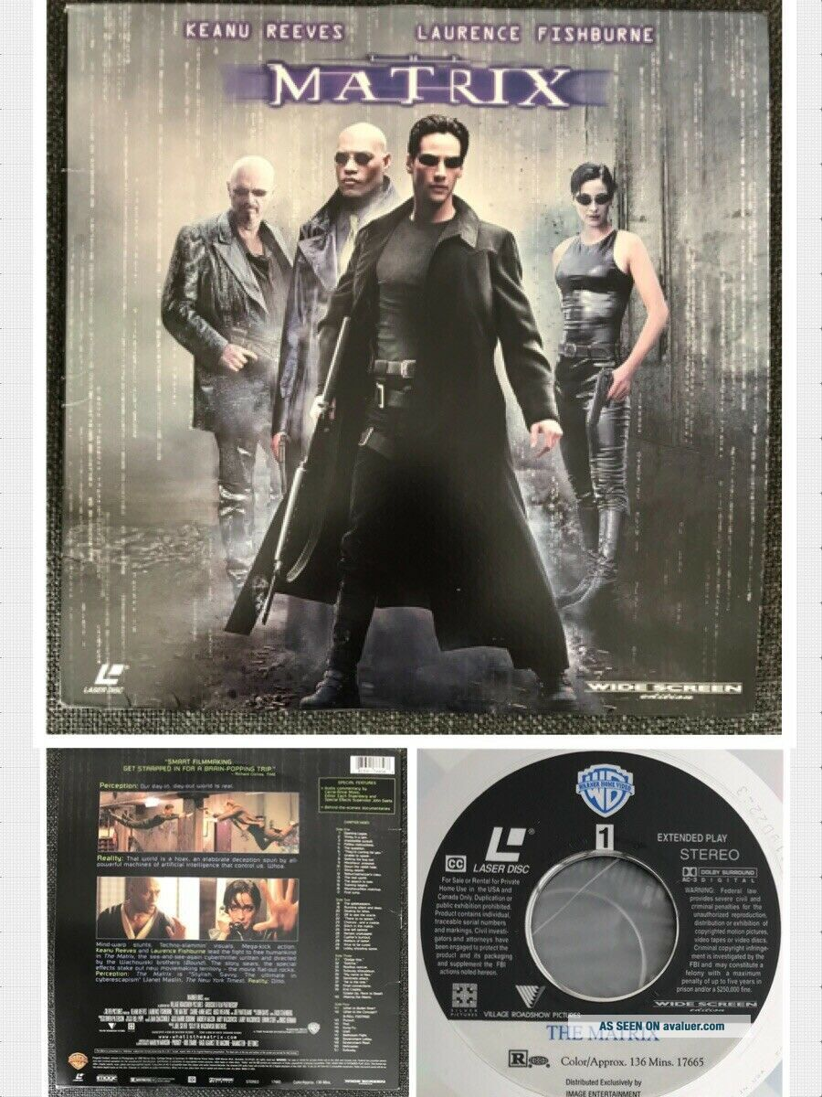 Rare Hard To Find 1999 THE MATRIX WIDE SCREEN Edition Laserdisc LASER DISC Image