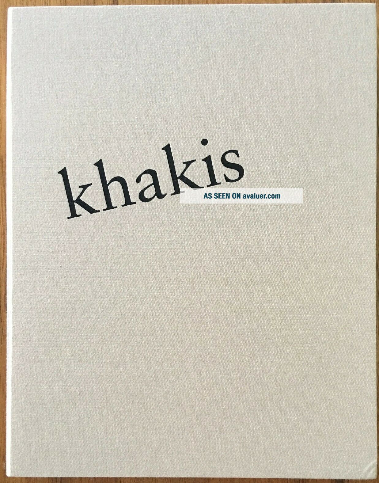 Robert Heinecken: Wore Khakis.  SIGNED LIMITED EDITION Photobook,  only 20 copies
