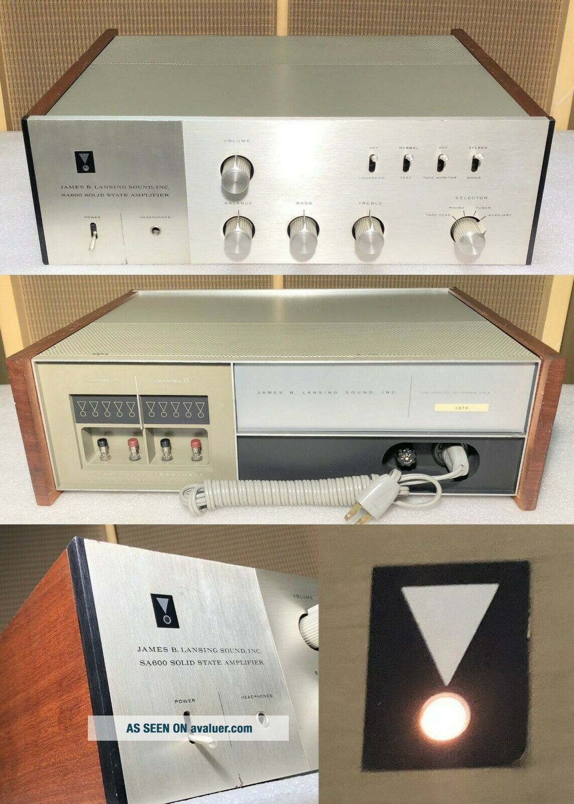 JBL SA600 Integrated Stereo Amplifier / SG520,  SE402 Lansing for L100 4343 C36