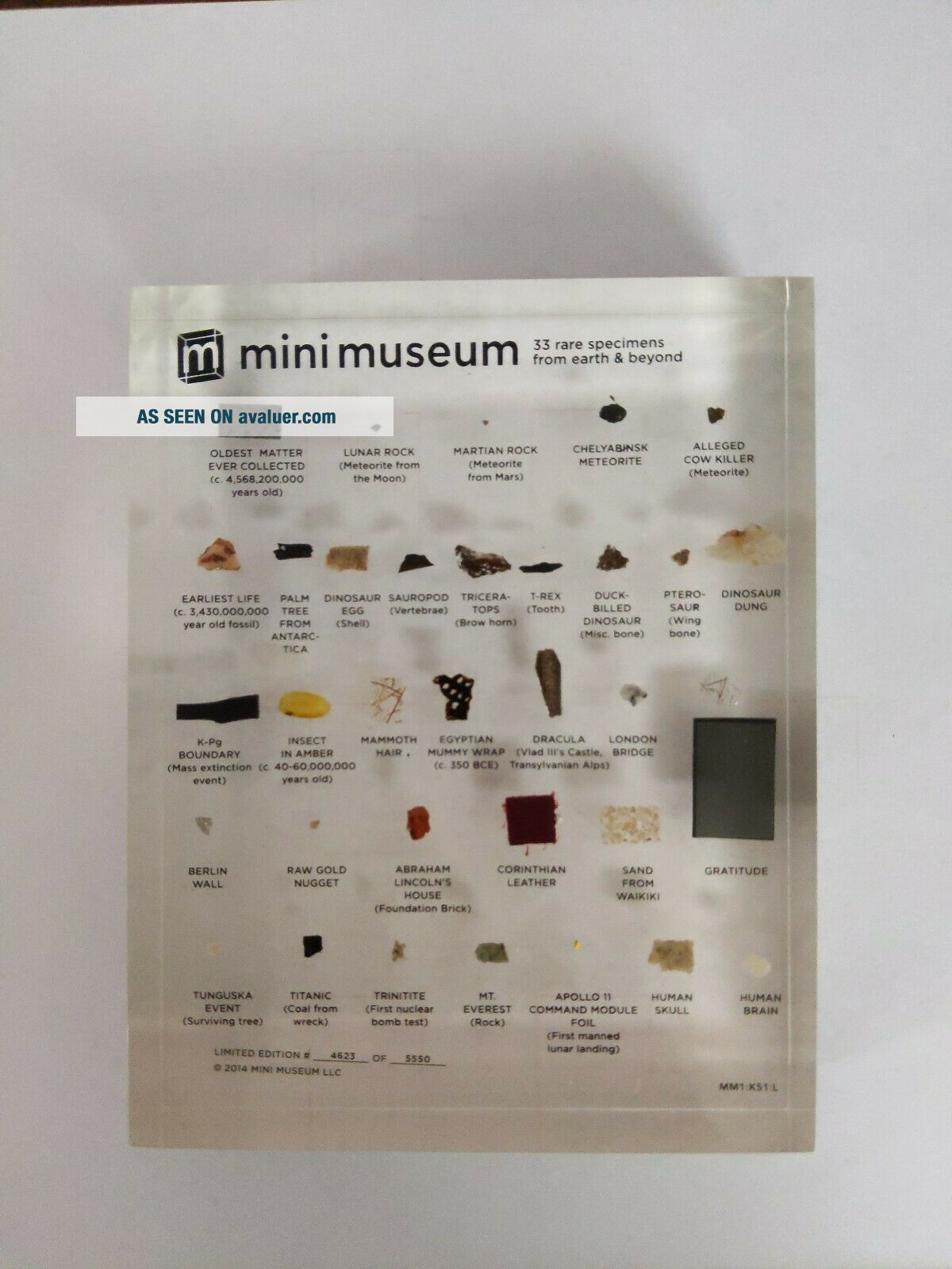 1st Edition Mini Museum Large, .  Certificate of Authenticity