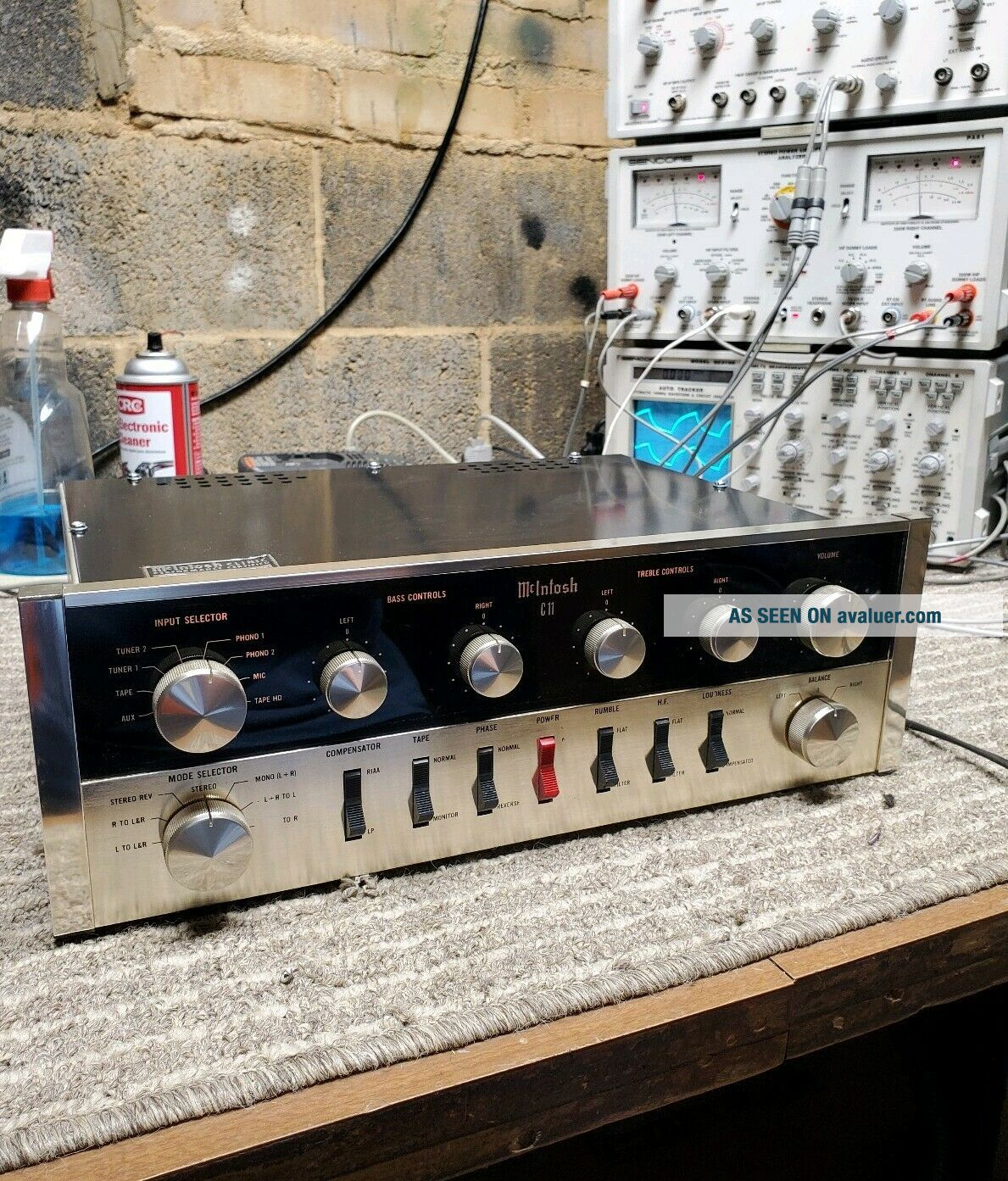 MCINTOSH C11 VACUUM TUBE STEREO PREAMPLIFIER GORGEOUS