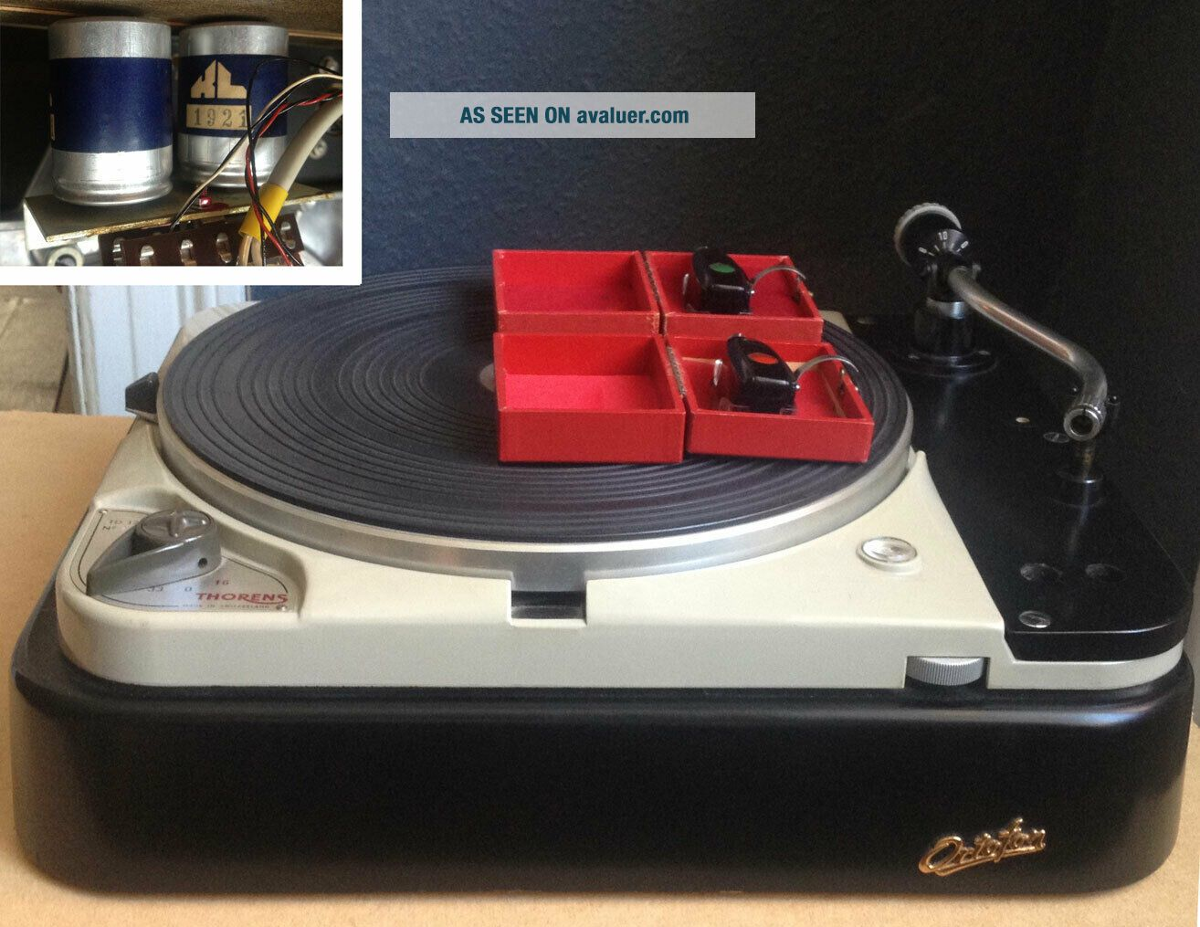 Thorens TD 124,  2 Ortofon carts,  SMG - 212 arm and SUTs
