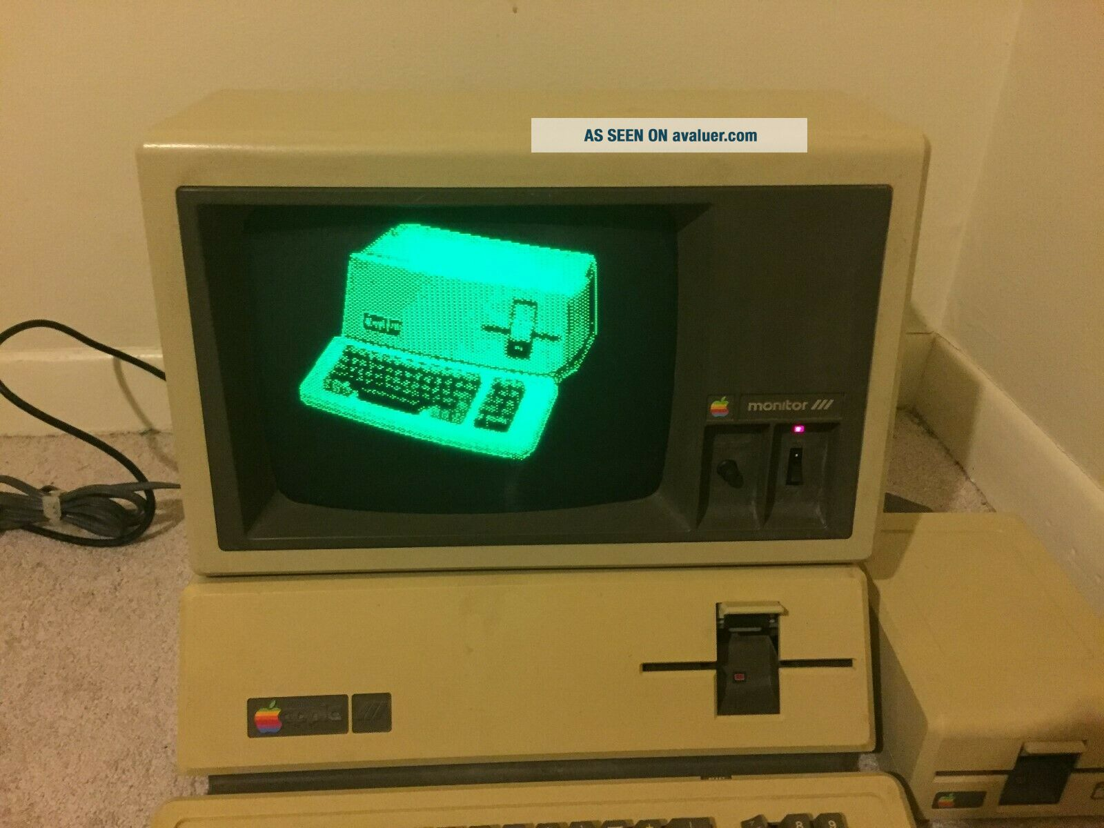 Apple III 256K with Monitor and External Floppy Drive and