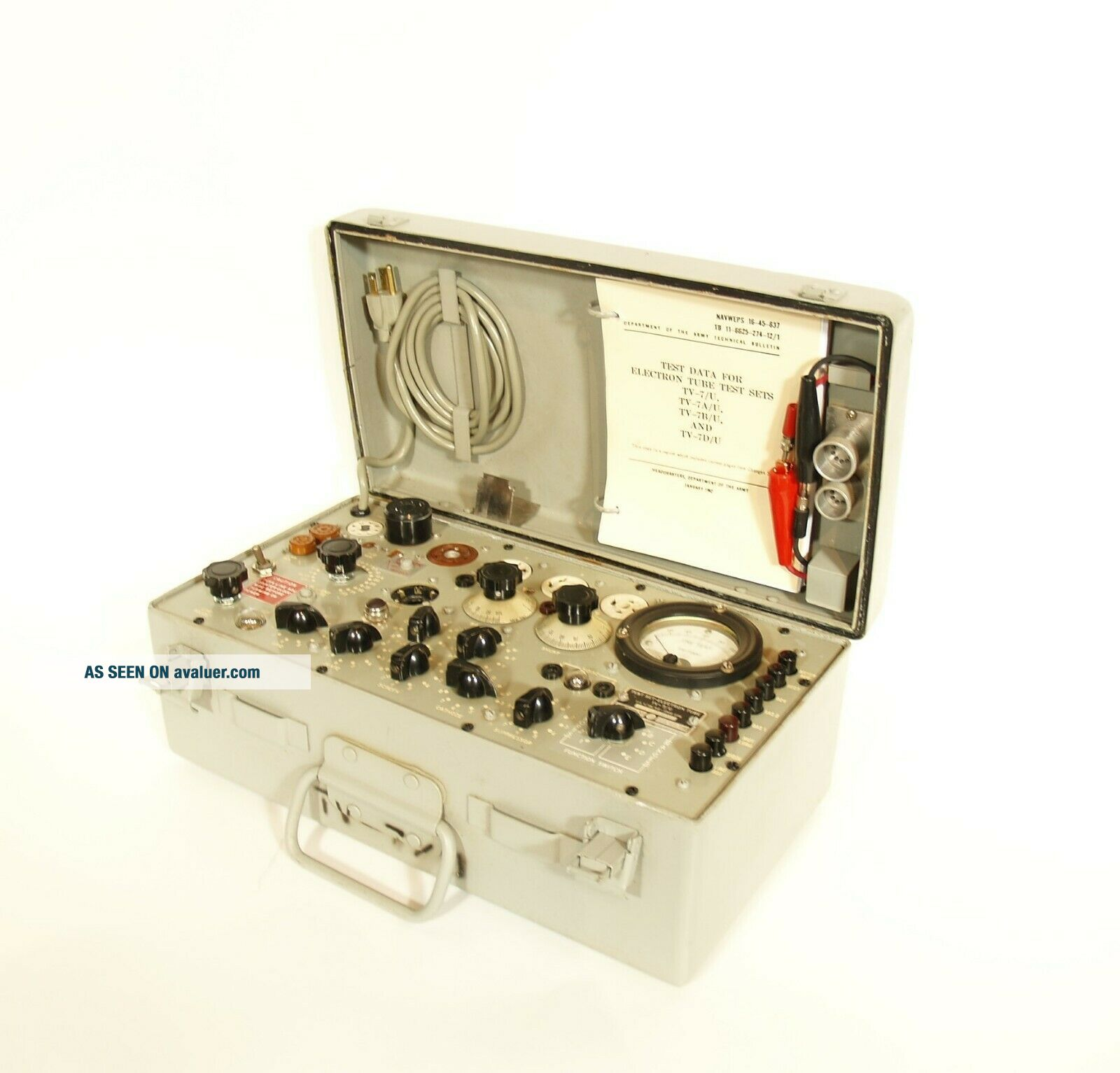 Outstanding TV - 7 Military Tube Tester Serviced & Calibrated by Dan Nelson 2/2019
