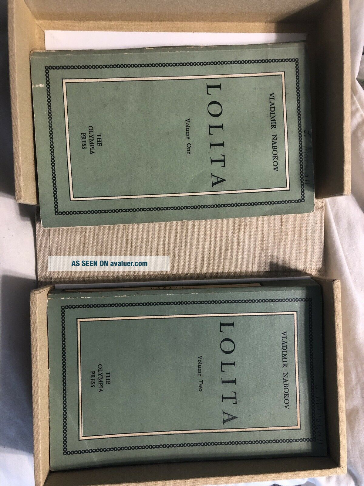 Lolita First Edition 2 Volume Books With Hard Cover Case That Looks Like A Book
