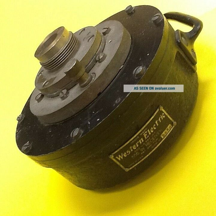 WESTERN ELECTRIC 555 W RECEIVER FROM 1920 ' S VITAPHONE INSTALLATION