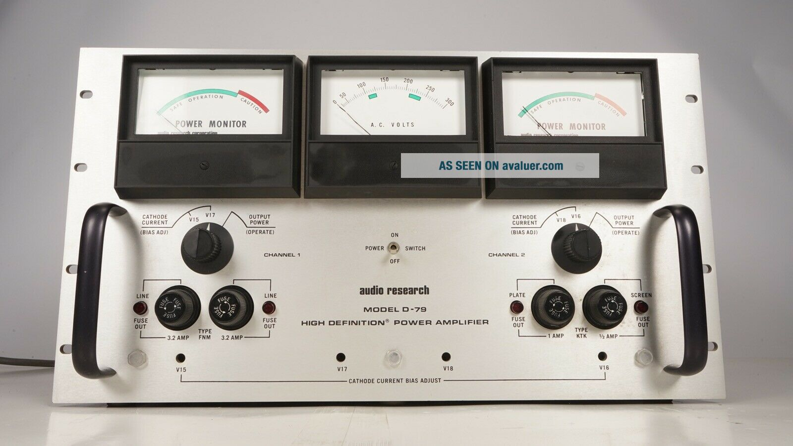 Audio Research D - 79 Vacuum Tube Stereo Power Amplifier - AS - IS