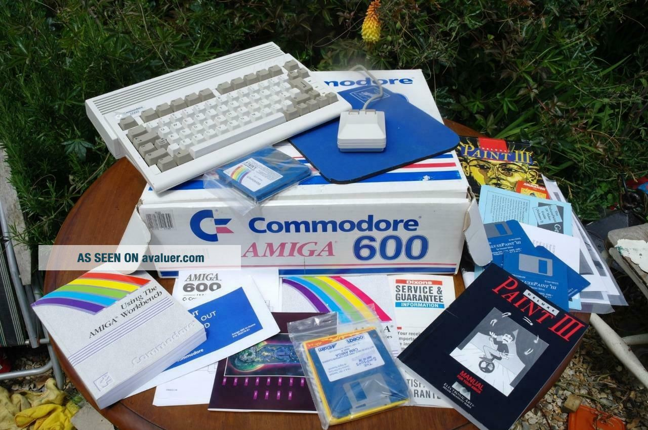 Commodore Amiga 600 Paint Deluxe 3 & Simpsons Pack BOXED COMPLETE