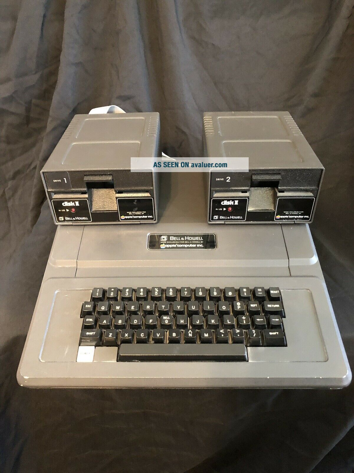 Bell & Howell Apple II Plus Computer And Disk Drives