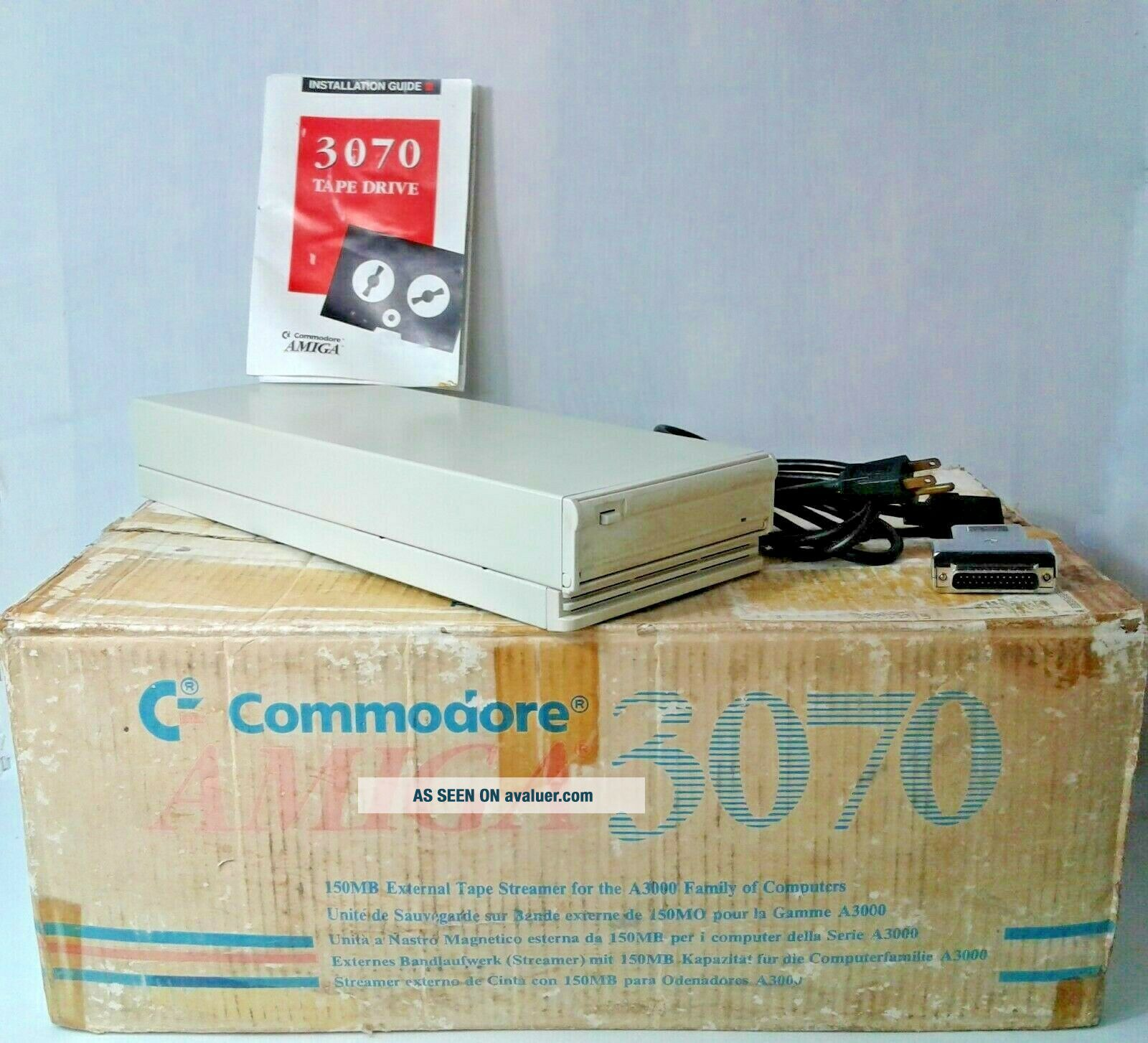 Commodore Amiga 3070 150MB External Tape Streamer For A3000 Family
